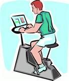 Exercise Bikes Clip Art